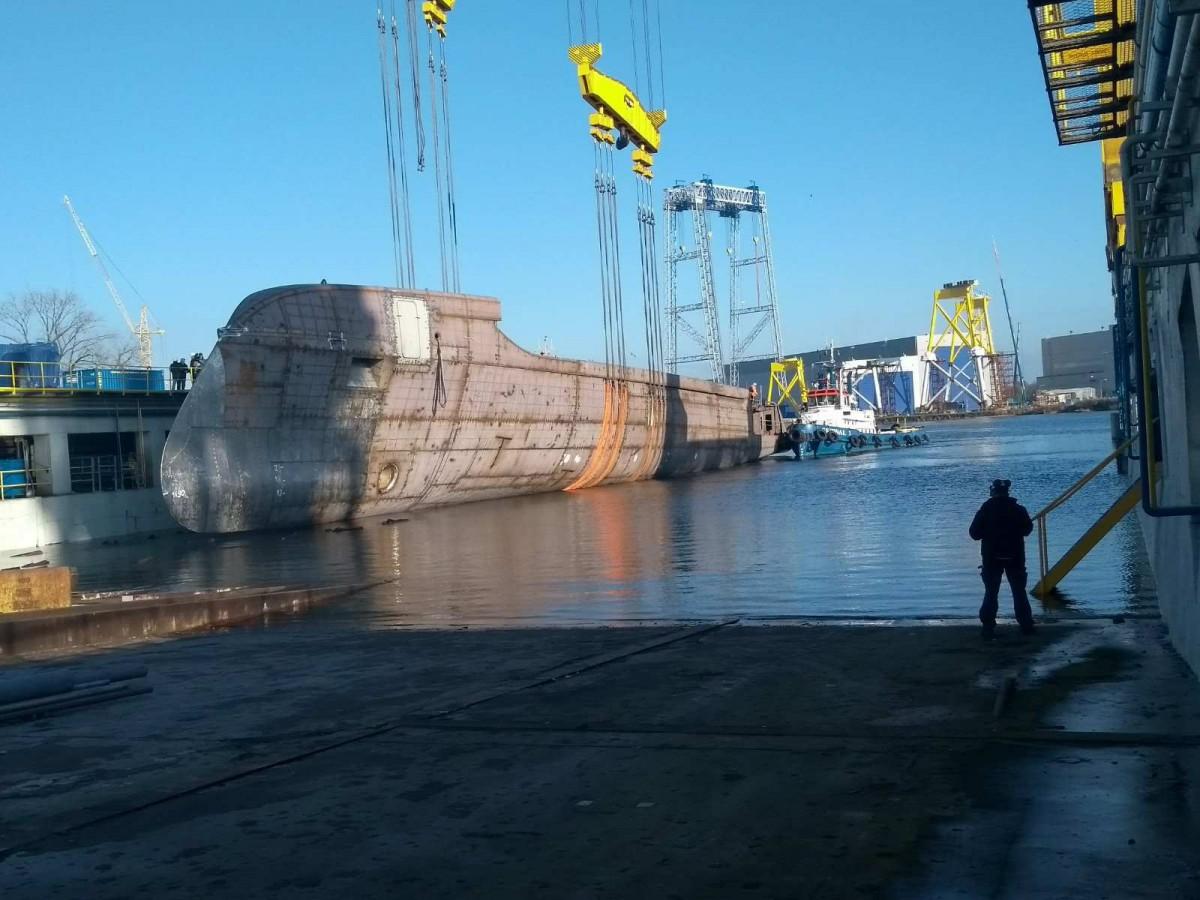W Stoczni Szczecińskiej zwodowano megajacht (foto)