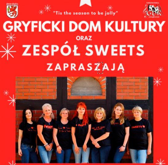 """Gryfice: Koncert kolęd w wykonaniu Zespołu wokalnego """"SWEETS"""""""