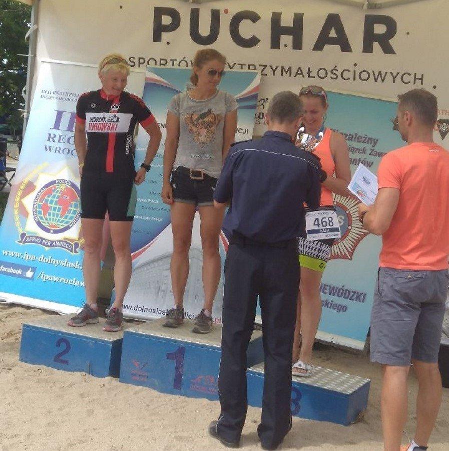 Świnoujska policjantka na podium Mistrzostw Polski Policji w Triathlonie