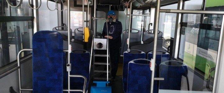 Komunikacja ozonuje miejskie autobusy, dezynfekuje wiaty.