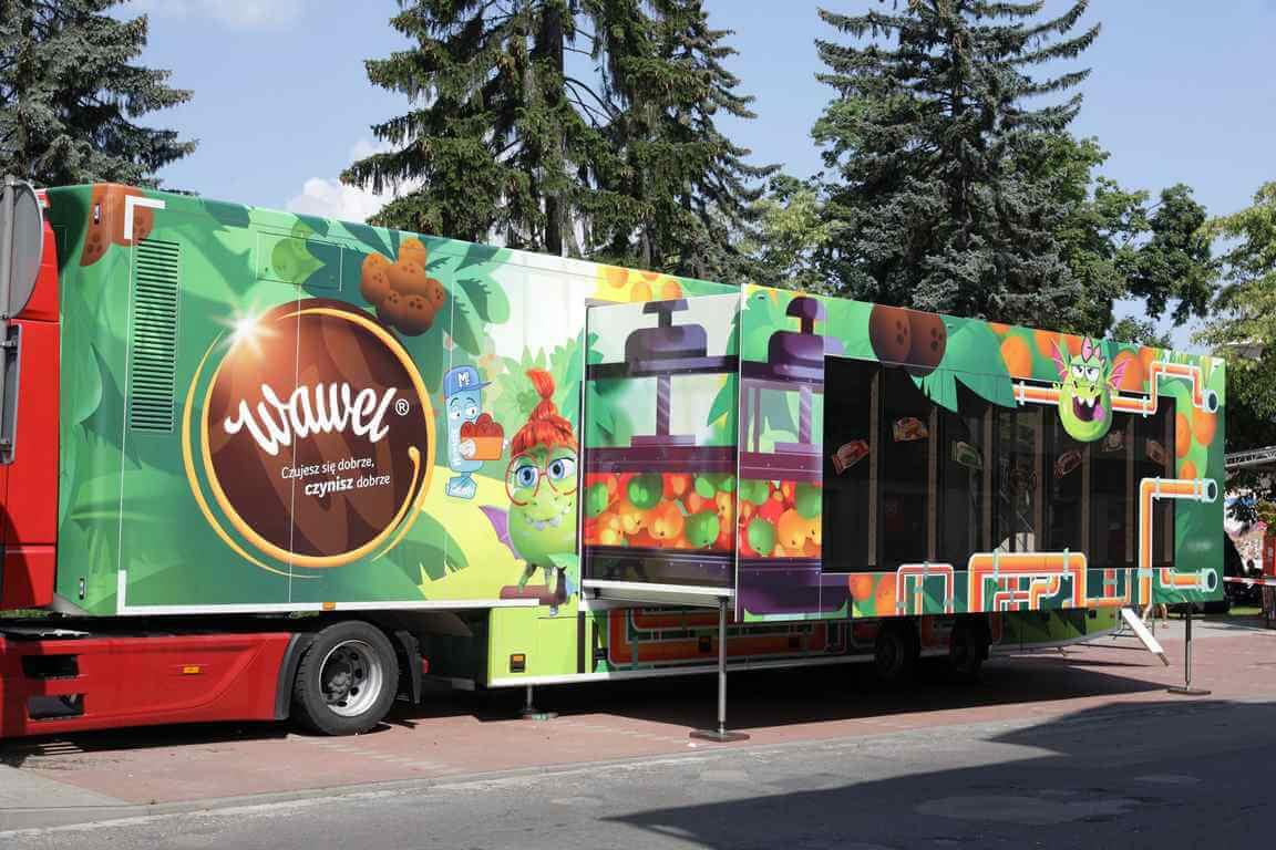 Słodka, interaktywna ciężarówka odwiedzi Szczecin