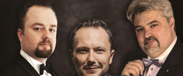 """Gryfickie Lato Muzyczne 2020 - zapraszamy na koncert """"Koncert Trzech tenorów""""."""