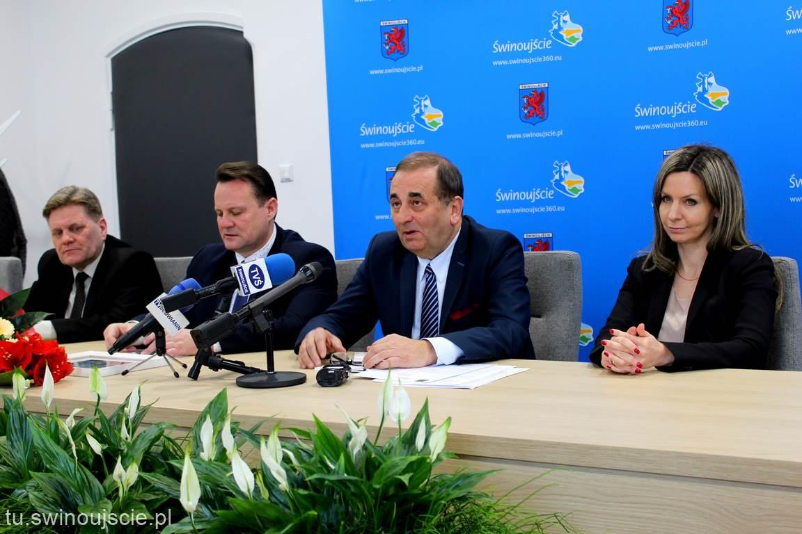 Konferencja prasowa z udziałem Prez. Miasta Świnoujścia