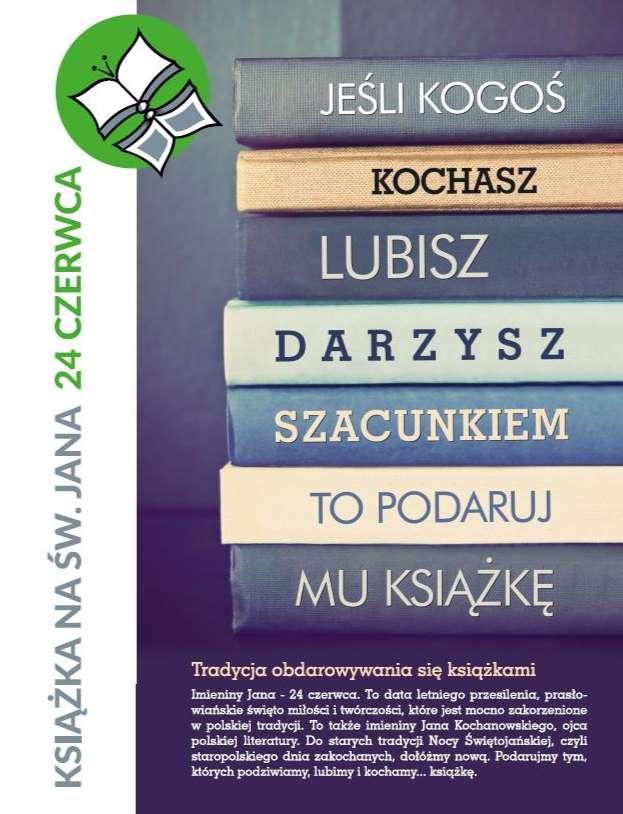 Książka na św. Jana – akcja promująca czytelnictwo w Polsce