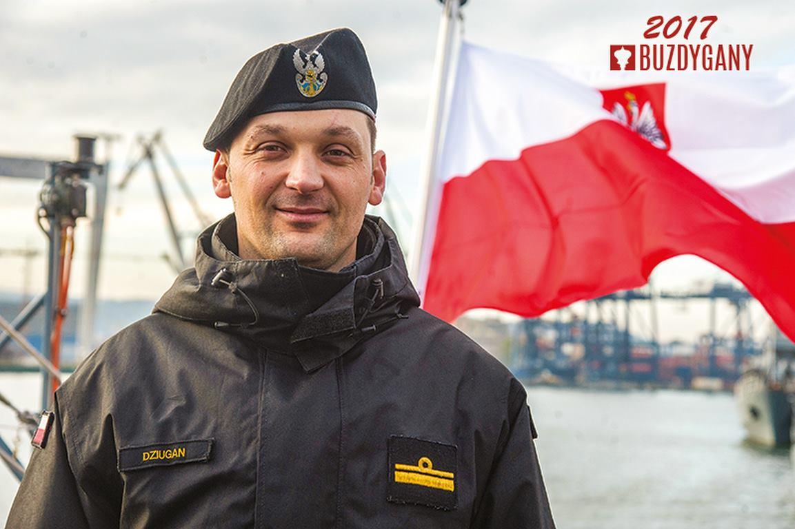 Komandor podporucznik Michał Dziugan laureatem Buzdygana 2017