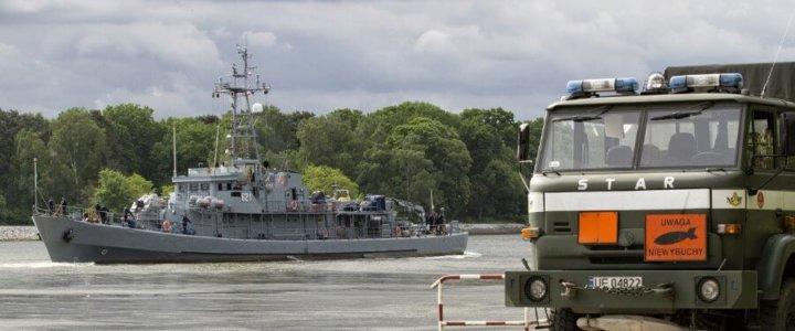 Neutralizacja miny morskiej z okresu II wojny światowej w Świnoujściu.