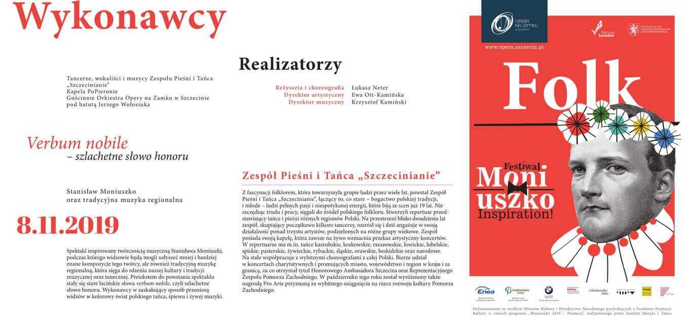 FOLK i S. Moniuszko - Zespół Szczecinianie na Festiwalu Moniuszko Inspiration w Operze na Zamku w Szczecinie.