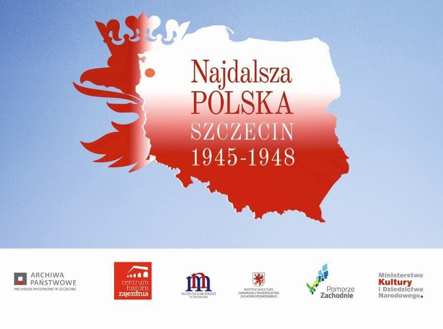 """Wystawa plenerowa """"Najdalsza Polska. Szczecin 1945 – 1948""""."""