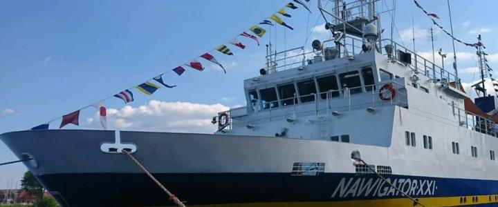 Uroczyste świętowanie 20. urodzin statku badawczo-szkolnego Nawigator XXI