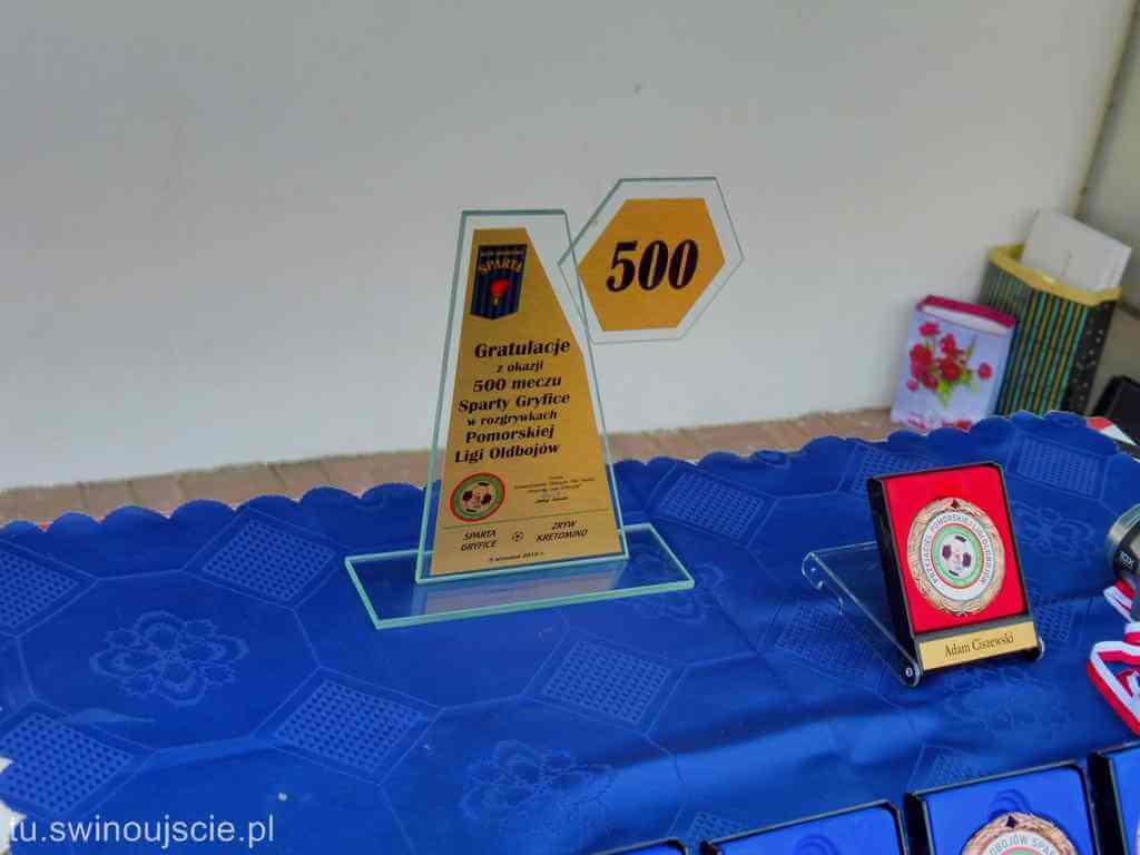 Gryfice. Oldboje Sparty Gryfice rozegrali 500mecz w Pomorskiej Lidze Oldbojów
