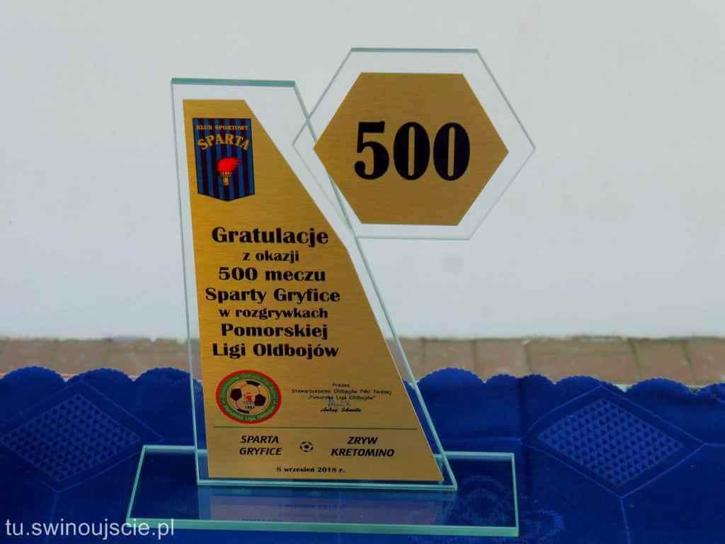 Oldboje Sparty Gryfice rozegrali 500mecz w Pomorskiej Lidze Oldbojów