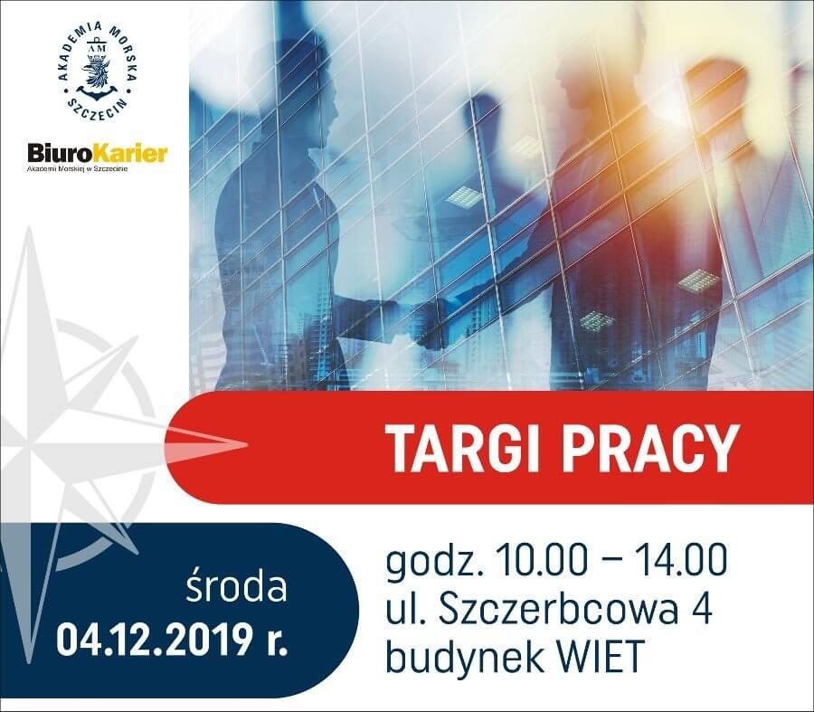 Targi Pracy Biura Karier Akademii Morskiej w Szczecinie.