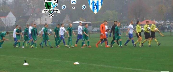 Świnoujście. Piłka jest okropna Sokół Karlino - Flota 0-0.