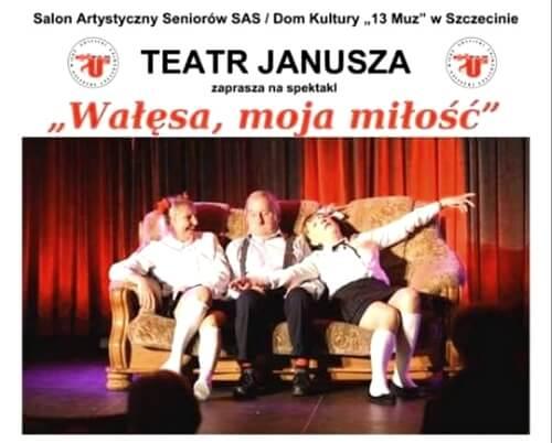 Gryfice. Wałęsa, moja miłość - zapraszamy na spektakl.
