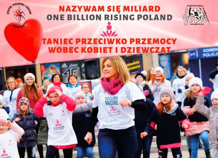 Gryfice. To już dzisiaj. Nazywam się Miliard/ One Billion Rising Poland 2020.