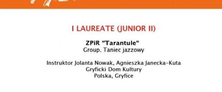 """Gryfice. """"TARANTULE"""" laureatem I stopnia KONKURSU INTERNETOWEGO DIGI-FORM-ART 2020 XVI MIĘDZYNARODOWEGO PROJEKTU """"KARAWANA KULTURY""""."""