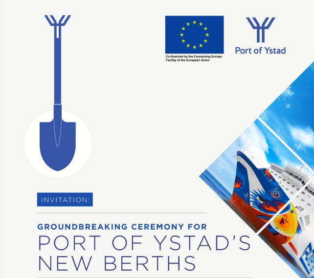 Witamy na oficjalnym rozpoczęciu budowy nowych miejsc postojowych połączenia morskiego Świnoujście – Ystad.
