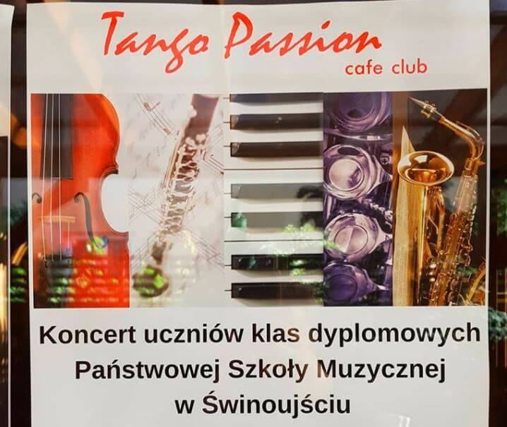 Świnoujście. Koncert w Kawiarni Tango Passion Cafe Club