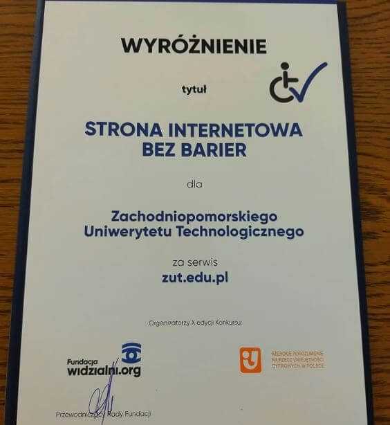 Zachodniopomorski Uniwersytet Technologiczny w Szczecinie wyróżniony w Sejmie