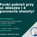 Punkt pobrań przy ul_ Mieszka ponownie otwarty!
