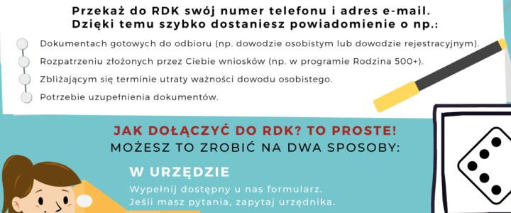 Od grudnia 2019 r. działa Rejestr Danych Kontaktowych (RDK).