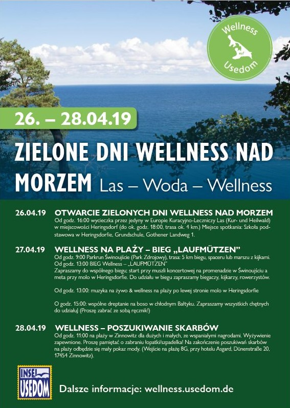 """Świnoujście. Las – Woda- Wellness Dlaczego """"Zielone Dni Wellness nad Morzem"""""""