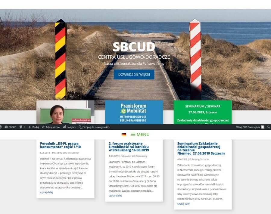 Świnoujście. Sieć Centrów Usługowo- Doradczych Euroregionu Pomerania zaprasza na stronę internetową