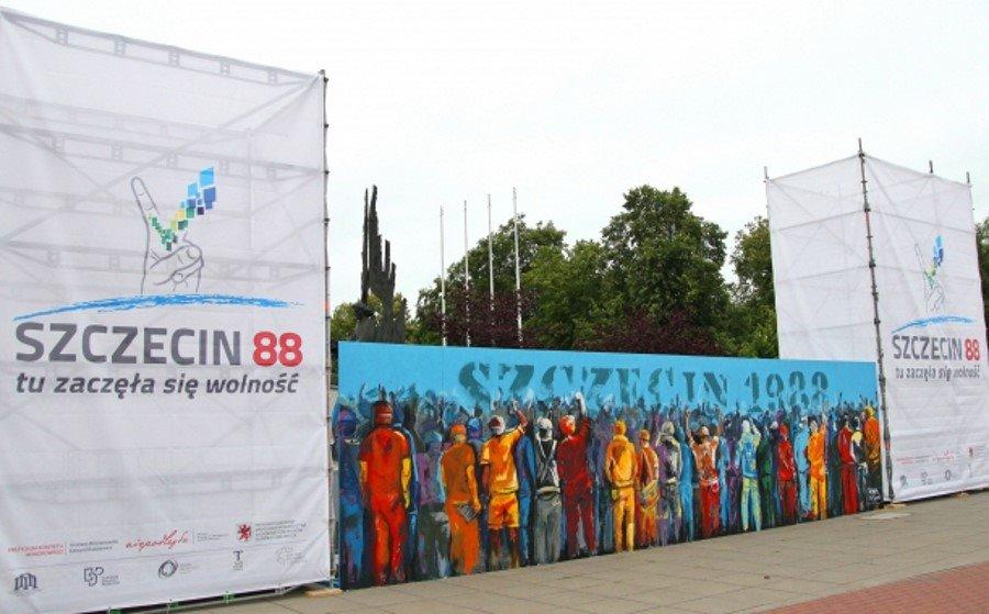 Mural upamiętni uczestników Sierpnia '88 w Szczecinie