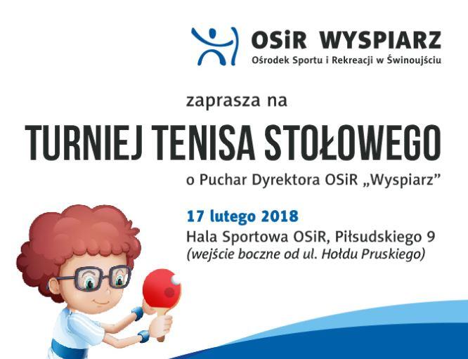 """Turniej Tenisa Stołowego o Puchar Dyrektora OSiR """"Wyspiarz"""" w Świnoujściu"""
