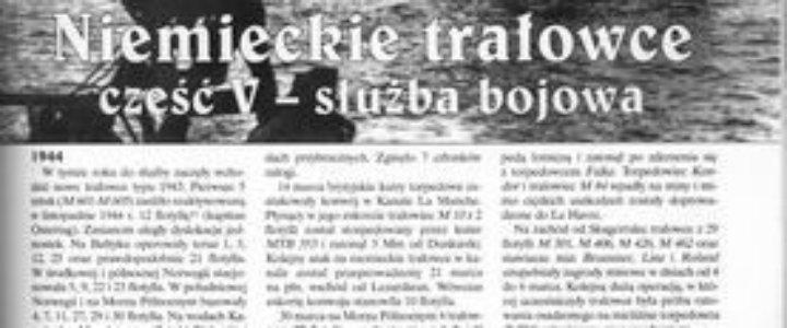 Niemieckie trałowce część V - służba bojowa Przemysław Federowicz