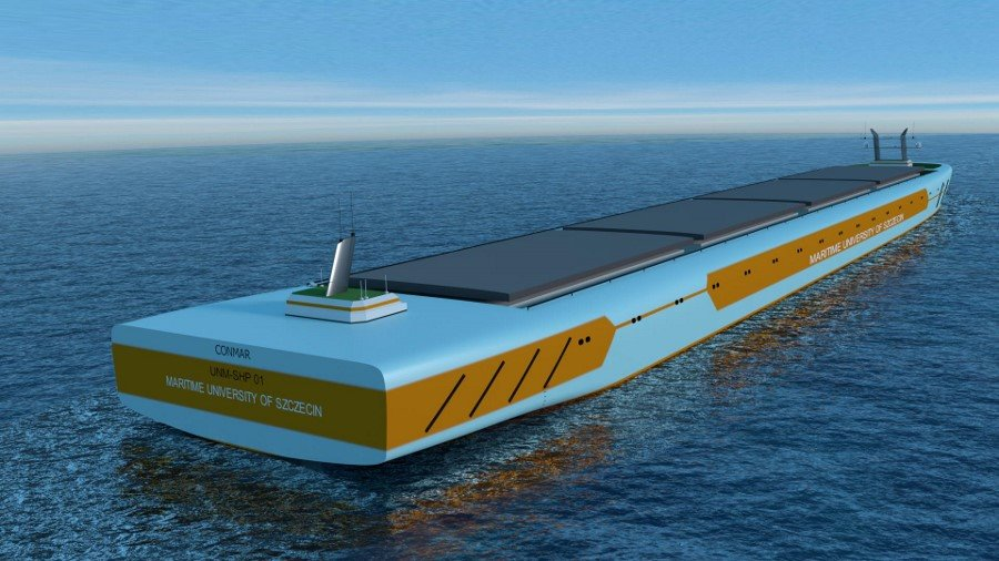 Wodowanie modelu bezzałogowego statku w Szczecinie