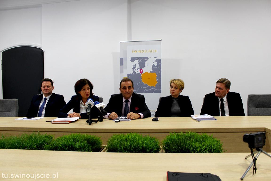 Konferencja prasowa w Urzędzie Miasta Świnoujście