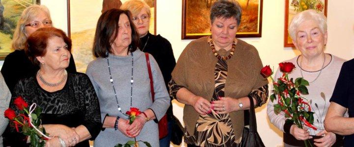 Wystawa Malarstwa z okazji 10-lecia Koła Plastycznego Uniwersytetu Trzeciego Wieku.