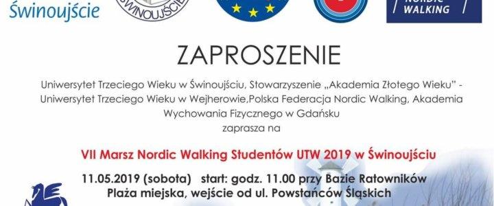 Świnoujście. VII Marsz Nordic Walking