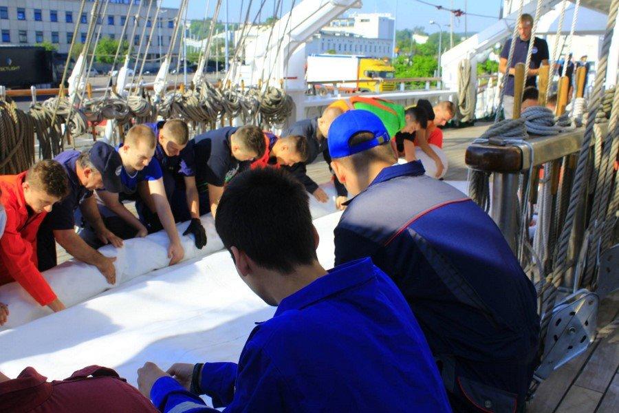 Uczniowie Zespołu Szkół Morskich