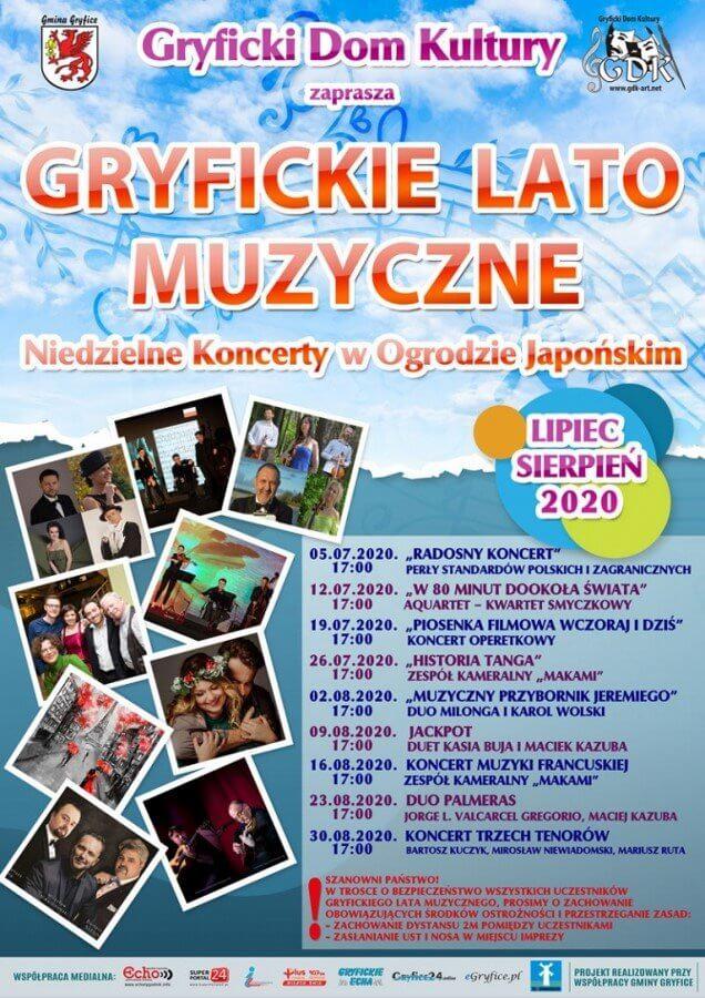 """Gryfickie Lato Muzyczne 2020 - zapraszamy na koncert """"W 80 minut dookoła świata""""."""