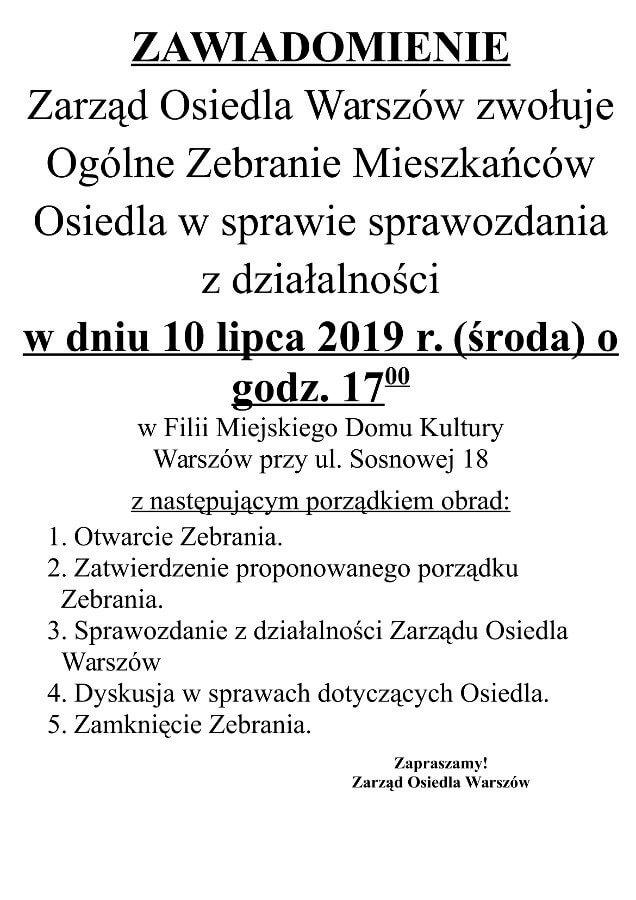 Świnoujście. Ogóle Zebranie Mieszkańców Osiedla na Warszowie.