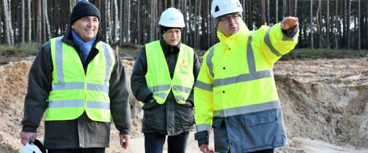 Świnoujście. Budowa tunelu pod Świną. Zdjęcia 7 lutego 2020 rok.