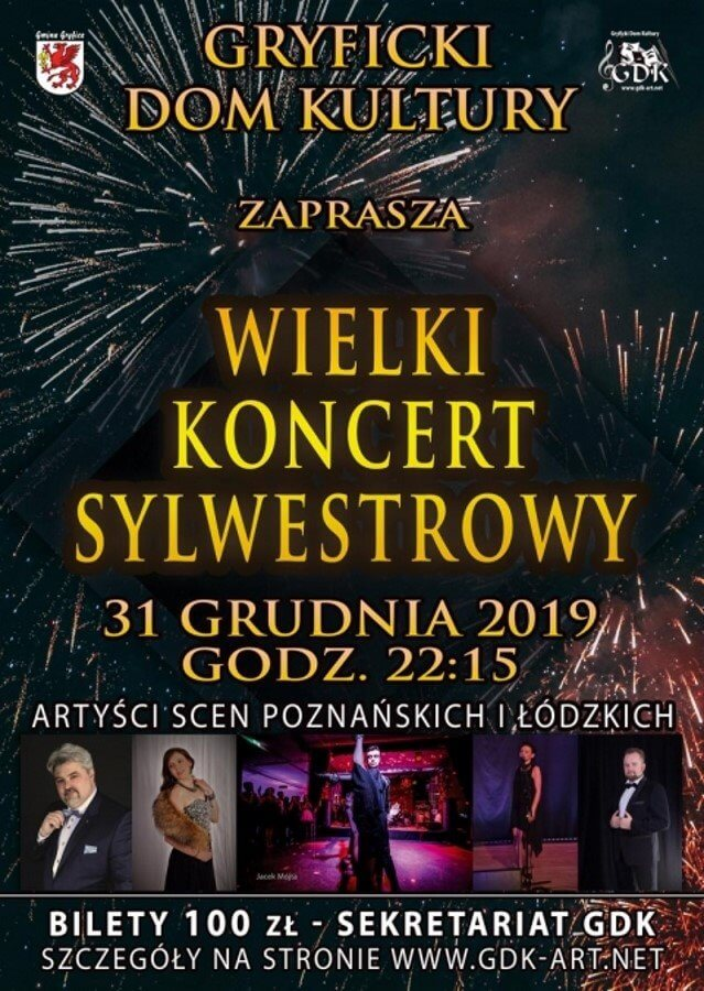 Gryfice. Wielki Koncert Sylwestrowy - 31 grudnia 2019.