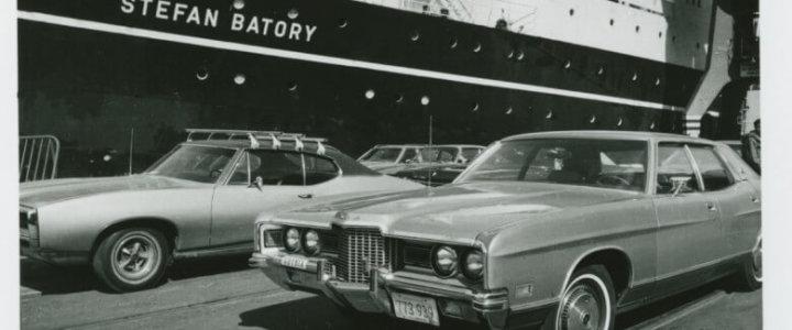 Historie podróży do Ameryki transatlantykiem Batory na wystawie.