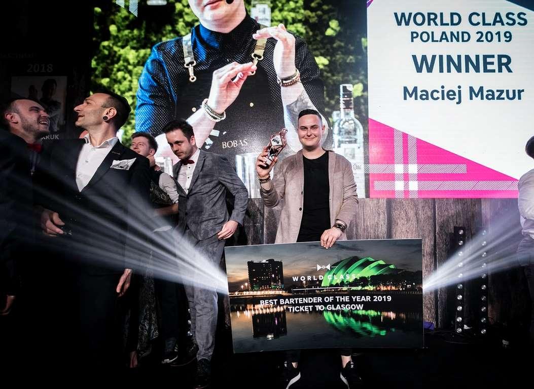 Maciej Mazur ze Świnoujścia Barmanem Roku World Class Poland 2019