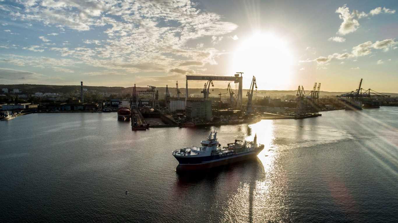 Stocznia CRIST przekazała nowoczesny statek do przewozu ryb