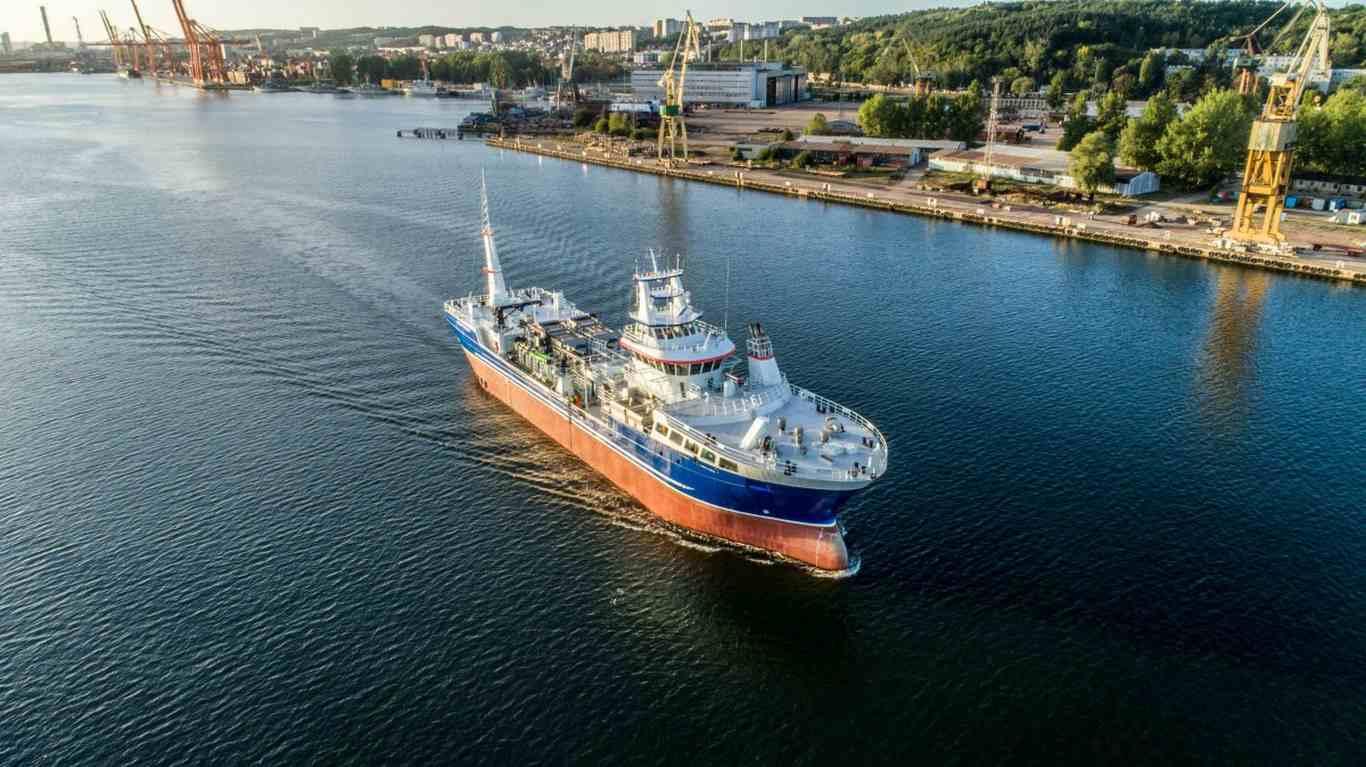 Stocznia CRIST przekazała nowoczesny statek do przewozu ryb (foto, wideo)