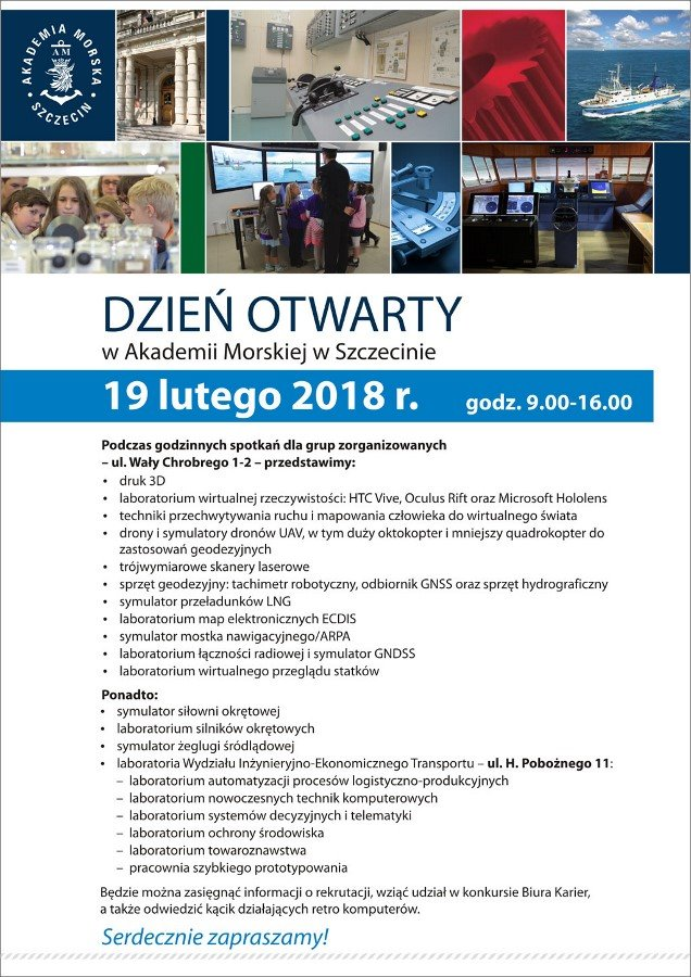 19 lutego dzień otwarty w Akademii Morskiej w Szczecinie