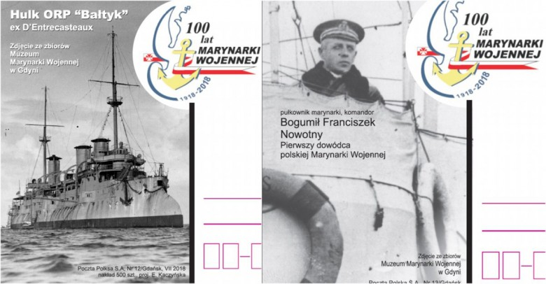 100 lat Marynarki Wojennej na kartkach pocztowych