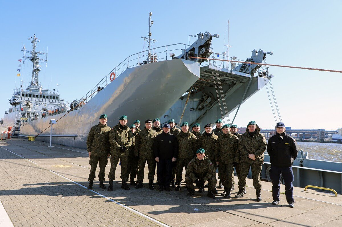 Świnoujście. Wizyta kadry 15. Giżyckiej Brygady Zmechanizowanej w 8. Flotylli Obrony Wybrzeża