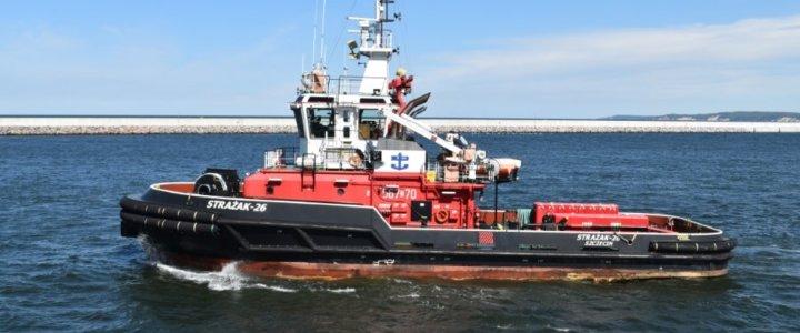 Świnoujście. Nowy statek pożarniczy w portach Szczecina i Świnoujścia coraz bliżej.