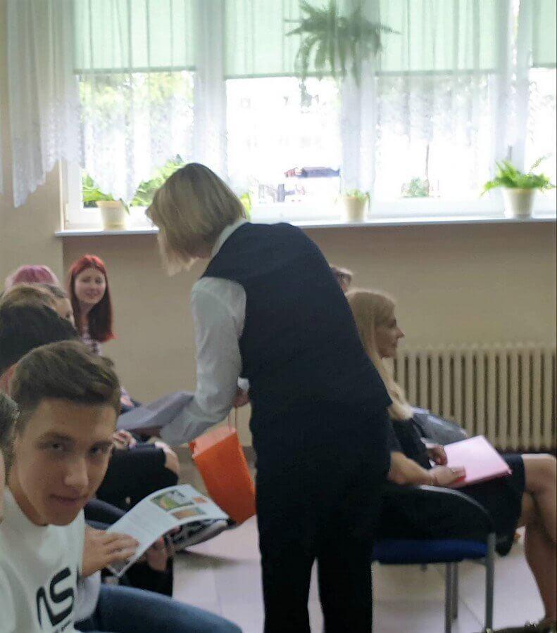 Świnoujście. Centrum Edukacji Zawodowej i Turystyki. Spotkanie z przedstawicielami hotelu Strandidyll.