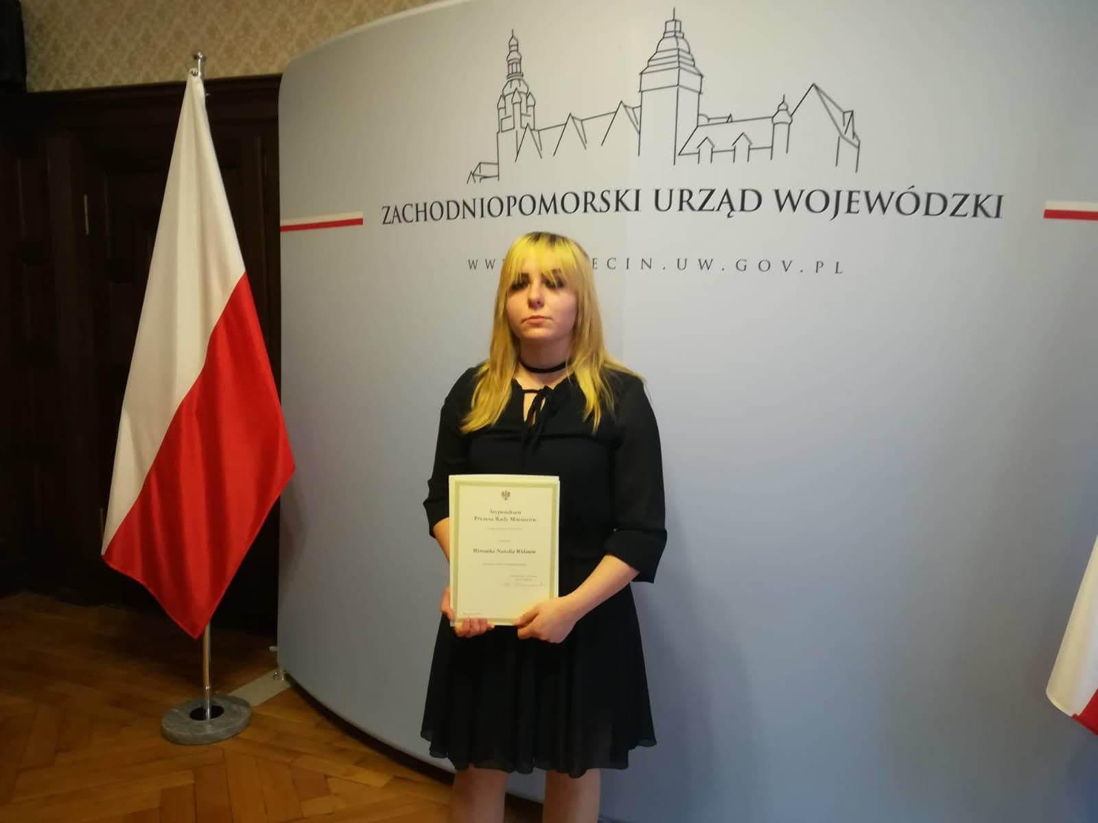 Świnoujście. Gratulacje dla Weroniki z Centrum Edukacji Zawodowej i Turystyki