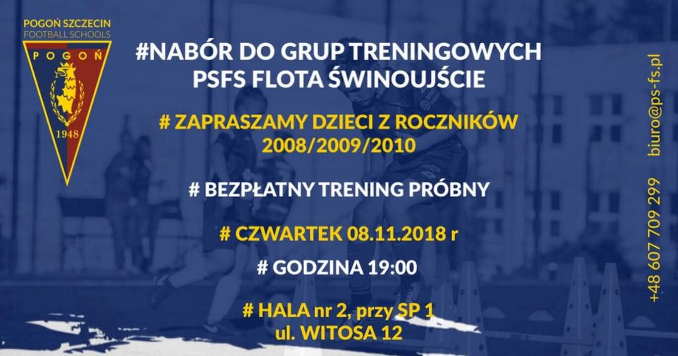 Świnoujście. NABÓR: FLOTA Świnoujście - POGOŃ Szczecin